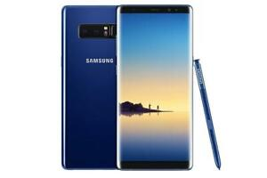 Samsung Galaxy Note 8 64GB Blue UNLOCKED MINT 10/10 condition $500 FIRM