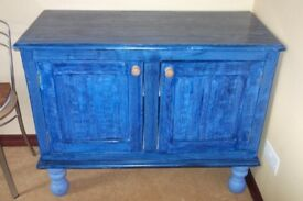Vintage Pine painted two door cupboard sideboard dresser chest shabby chic