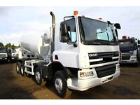 2006 56 PLATE DAF CF75.360 8X4 CONCRETE MIXER TRUCK CEMENT MIXER SCANIA MIXER VOLVO CONCRETE MIXER