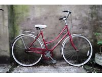 ELSWICK ASCOT, 19.5 inch, 50 cm, vintage ladies womens dutch style road bike, 3 speed, loop frame