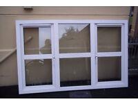 White PVC Window double glazed 1695 wide x 1060 high