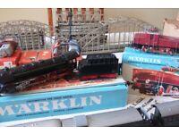 Vintage Marklin Train Set Plus Accessories