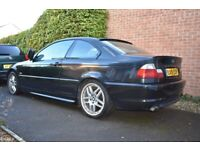 BMW E46 325i M Sport Coupe 2002 Manual Schnitzer Easy Project Needs Exhaust Fitting On, used for sale  Honiton, Devon