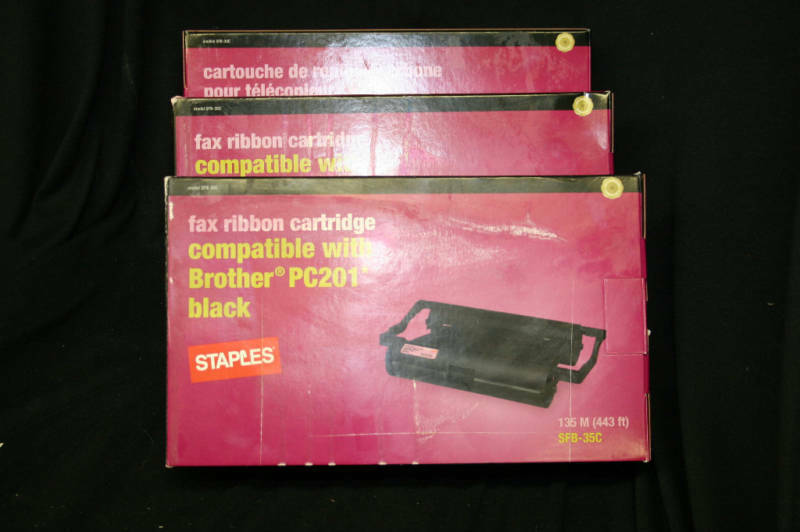 Fax Cartridges Compatible with Brother PC 201 3 count