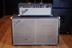 Fender Bassman Head Blackface 1967 & Fender 60's 2x12 Cab
