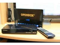 Openbox v8s with one year's free gift fully loaded.