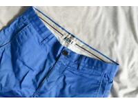 Acne Studios 'roc satin' trousers in blue