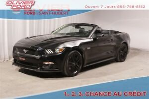 2016 Ford Mustang GT 5.0L CONVERTIBLE CUIR BLACK MAGS (CERTIFIÉ)