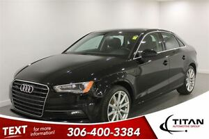 2015 Audi A3 Quattro Plus | AWD | Nav | Heated Leather