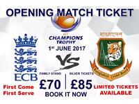Bangladesh VS England : ICC Champions trophy tickets 2017- The Oval London