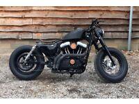 1/1 Harley Davidson 1200 Custom Classic Vintage Sportster 48 Bobber - Cafe Racer