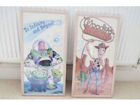 TOY STORY 2 x Glass Framed Posters: Woody & Buzz Lightyear 64cm x 33.5cm