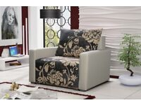 HIGH QUALITY COMFORTABLE FABRIC ARMCHAIR WITH PILLOW CHAIR WITH FLOWERS