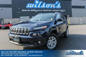 2014 Jeep Cherokee NORTH 4WD! PANORAMIC SUNROOF! HEATED STEERING