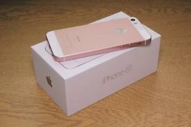 Iphone se rose gold 16gb new