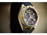 Breitling Crosswind automatic chronograph wristwatch - B13055 - Original Non COSC model - Blue dial