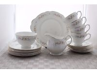 "Staffordshire Mayfair ""Alpine"" Tea/Coffee Set 19 Pcs Porcelain"