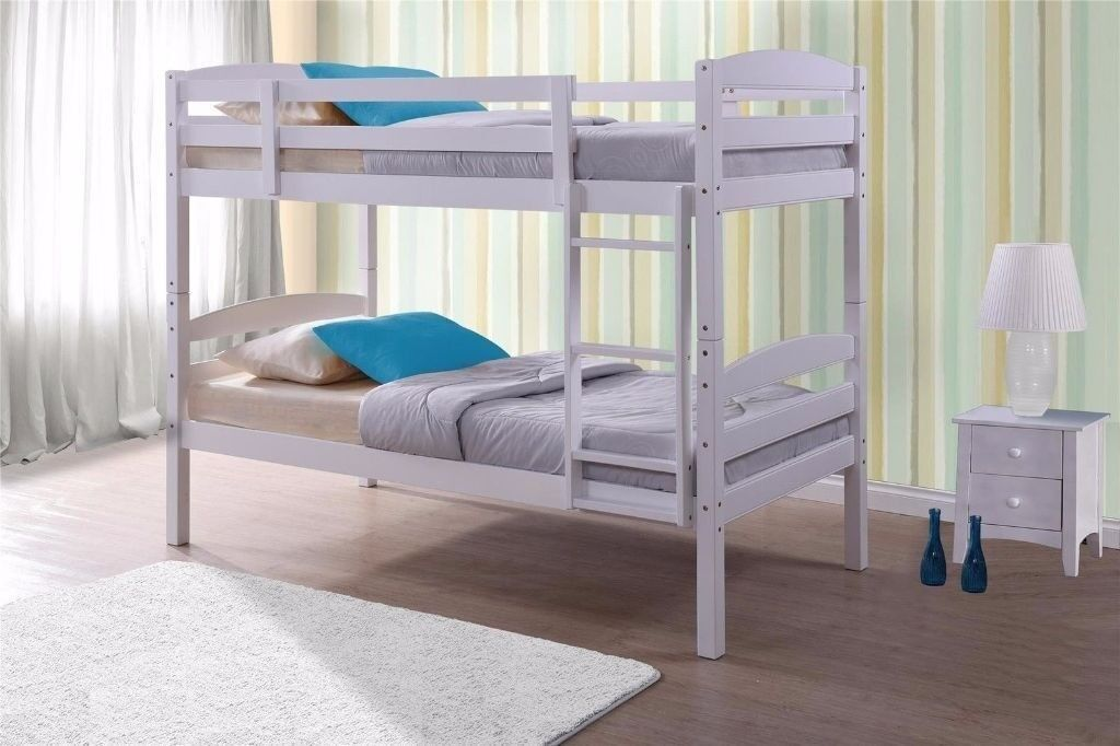 Sherwood Pine Solid Wooden Bunk Bed Bunk Bed With Mattresses