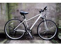 CARRERA CROSSFIRE, 18 inch, ladies womens hybrid road city bike, 21 speed