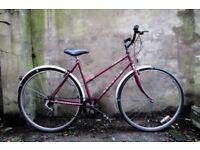 RALEIGH PIONEER. 20 inch, 51 cm. Ladies women's hybrid road bike, 6 speed