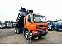 2004 DAF CF75.310 6X4 TIPPER TRUCK STELL BODY TIPEPR SCANIA TIPPER GRAB MAN IVECO FOR SALE UK EXPORT