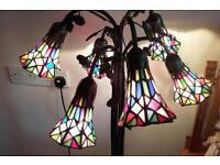 Tall tiffany standard lamp