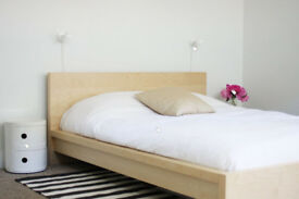 IKEA Malm Double Bed & Mattress