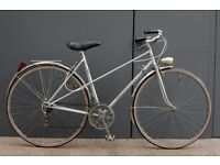 Beautiful Joaquin Agostinho Vintage French Mixte Frame Ladies Town Bike with NEW Tyres- 52cm Frame