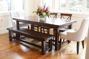 Locally Crafted Furniture Solid Reclaimed Wood Provencal Dining Table And More By LIKEN Woodworks