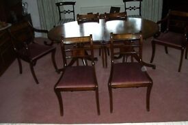 Dining Chairs including 2 carver + 4 chairs wood pink removable seats