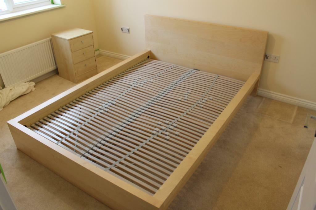 Ikea aspelund queen bed frame - Malm schreibtisch weiay ...