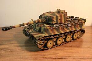 TORRO RC Panzer Tiger I 2.4GHz Frühe Vers. Metallketten-Wanne-Getriebe 1:16 BB