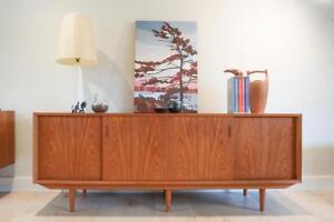 Cabinetmaker Quality Danish Modern Teak Credenza