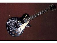 Vintage V100 BLACK (Jack Daniels) LP style electric guitar *retails for £250+*