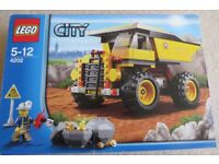 Lego 4202 City Mining Truck, Age 5-12, 100% Complete with Box and Manual