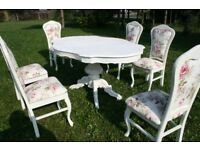 Spring Rose Italian Table 6 chairs