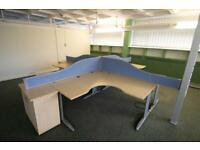 Office Furniture - Lot 3 - 9 corner desks & dividers