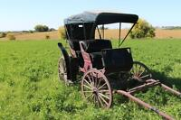 Beautiful Black and Burgandy Carriage