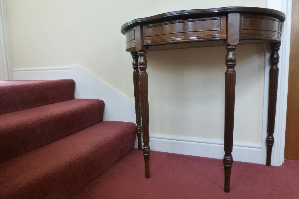 Half Moon Table in polished wood in Horsforth West  : 86 from gumtree.com size 1024 x 682 jpeg 59kB