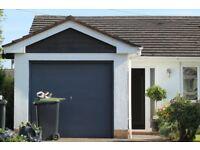 Metal Single Garage Door - 7ft wide x 6ft 6 inches high - Up and Over Mechanism