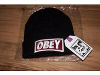 New Black obey beanie
