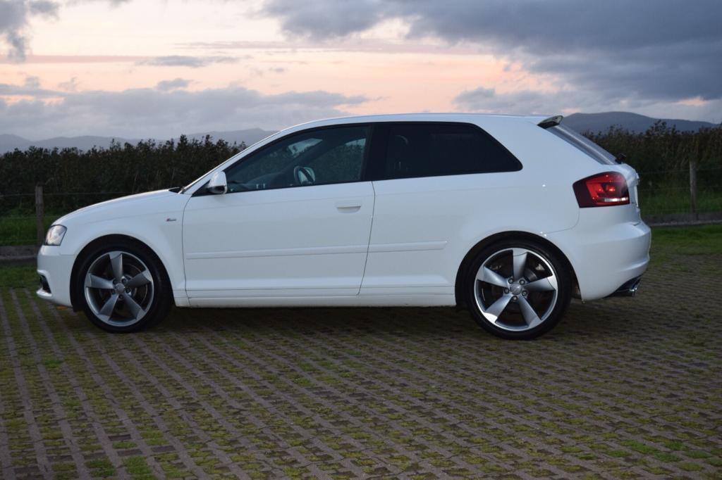 White Audi A3 S Line (Black edition) (2011) 3 dr 2 litre TDI Quattro