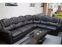 Texas corner sofa in black brand new