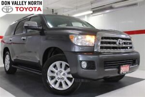 2015 Toyota Sequoia PLATINUM V8 4WD Sunroof Nav DVD Heated Lther