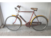 "Gents vintage bicycle,1963 raleigh, in full working order. 26"" . delivery at small charge"