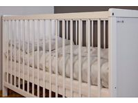 Brand new Baby Cot Bed 2 in 1 LARGE 140x70cm.10cm Mattress. Converts Into Junior Bed