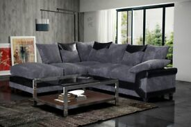GET IT TODAY!!! DINO JUMBO CORD CORNER OR 3+2 SEATHER SOFA IN BLACK/GREY OR BROWN/BEIGE -GET IT NOW-
