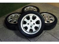 "Genuine Mitsubishi Colt 15"" Alloy wheels & Tyres 4x114.3 Hyundai Smart ForFour"