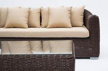 Rattan Wicker Outdoor Furniture Chunky Round Wicker Sofa Set Beaconsfield Upper Cardinia Area Preview