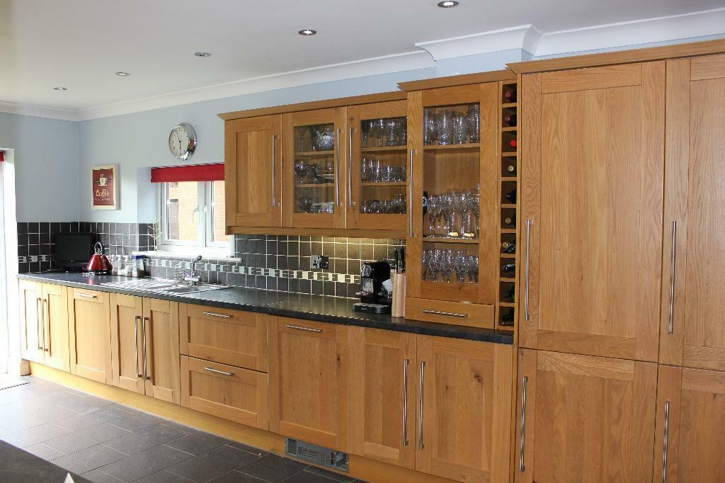 Tall larder kitchen unit with buy sale and trade ads for Cream kitchen carcasses